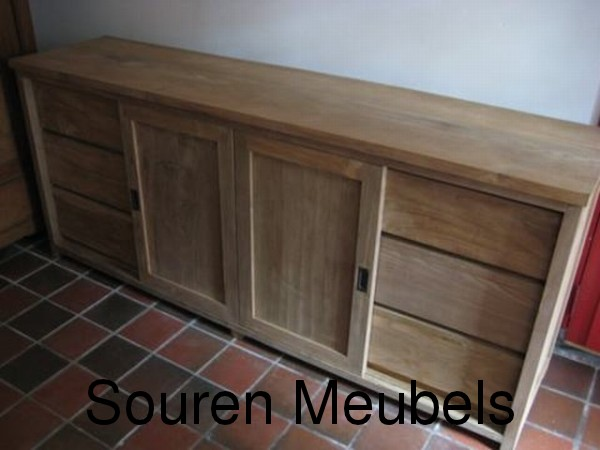 teak sideboard aus teakholz sideboards auflagenbox. Black Bedroom Furniture Sets. Home Design Ideas